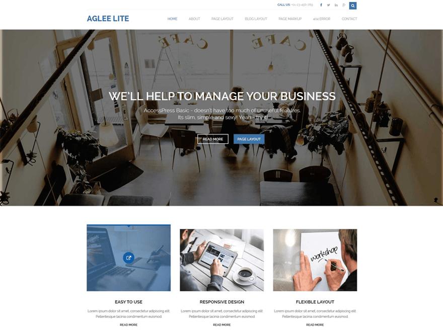 Aglee Lite WordPress Theme