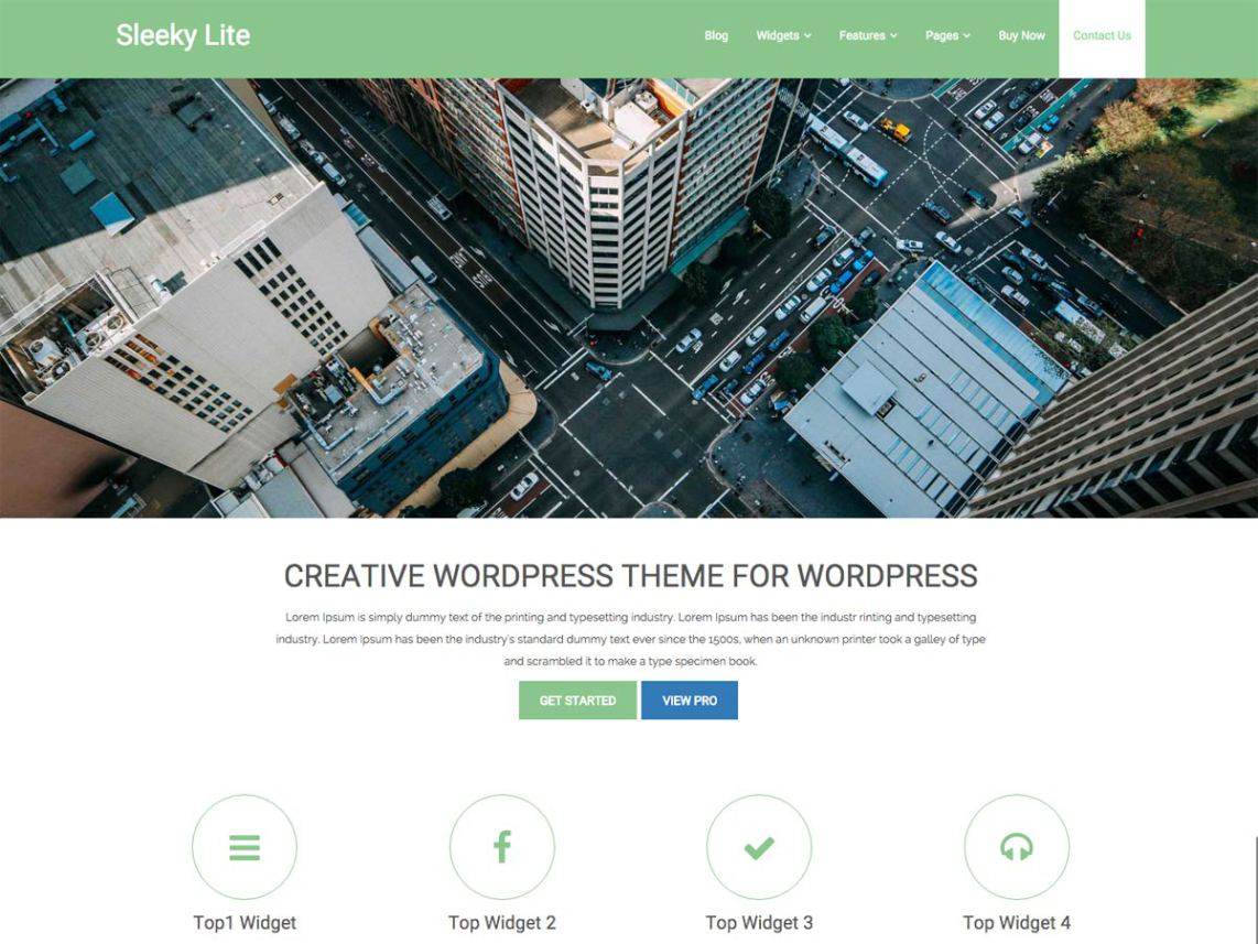 sleeky WordPress Theme