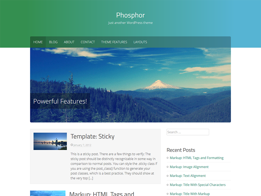 Phosphor WordPress Theme