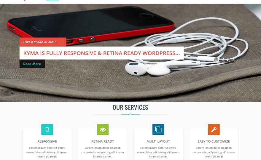 Kyma WordPress Theme
