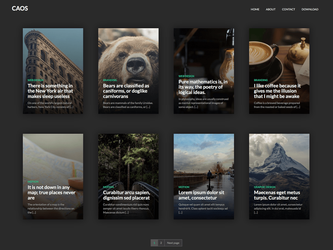 Caos WordPress Theme