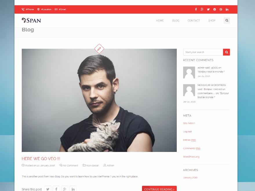 Span WordPress Theme