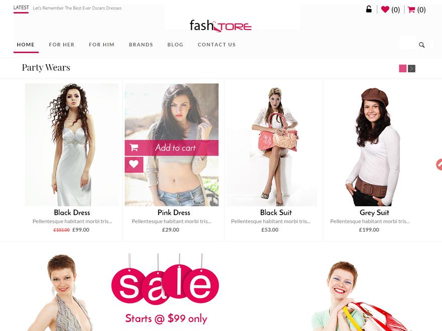 FashStore WordPress Theme Download