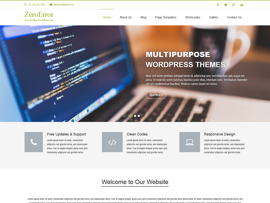 Zeroerror WordPress Theme Download