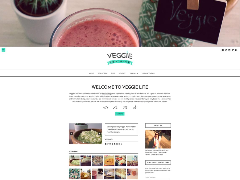 Veggie Lite WordPress Theme Download