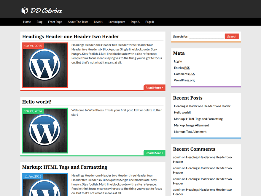 Colorbox WordPress Theme Download