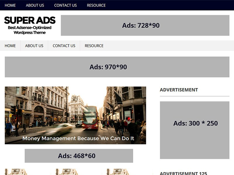 SuperAds WordPress Theme