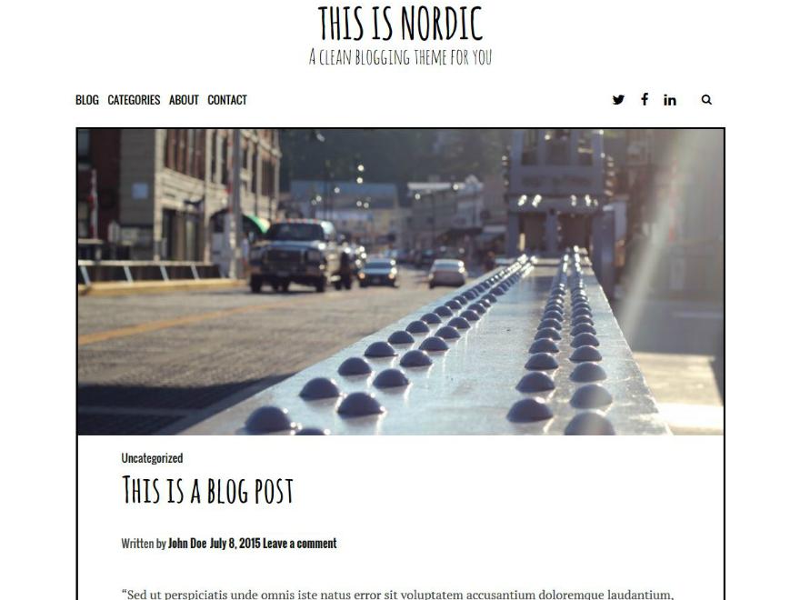 Nordic WordPress Theme Download