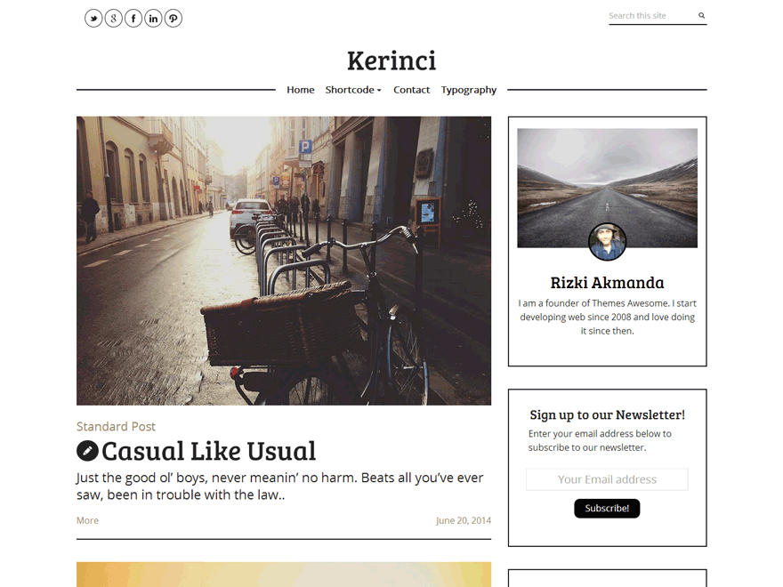 Kerinci Lite WordPress Theme Download