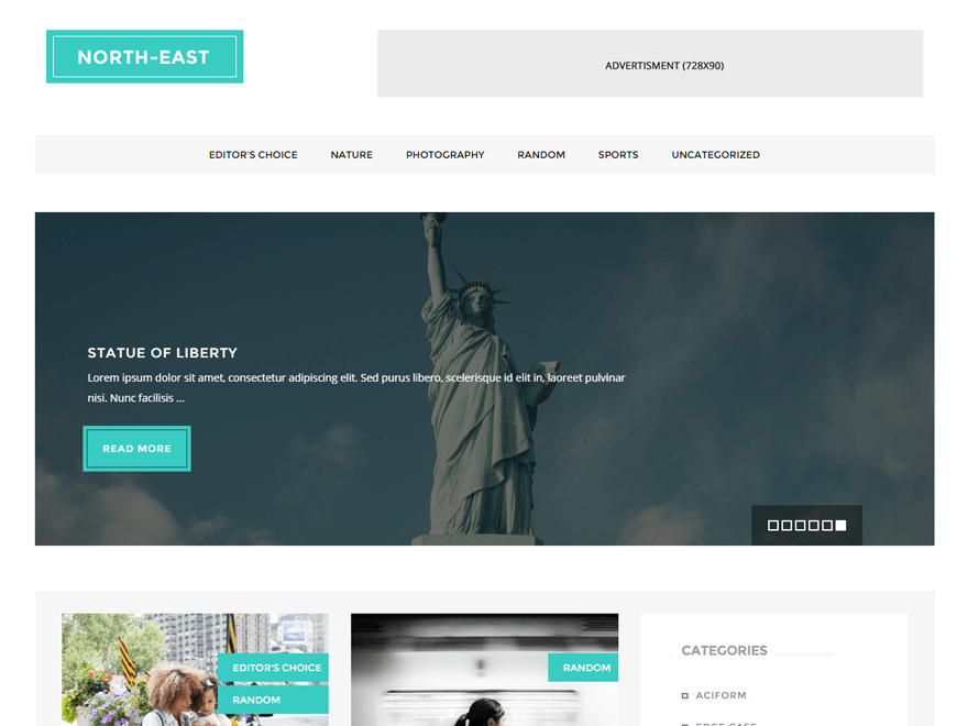 North East WordPress Theme  Download