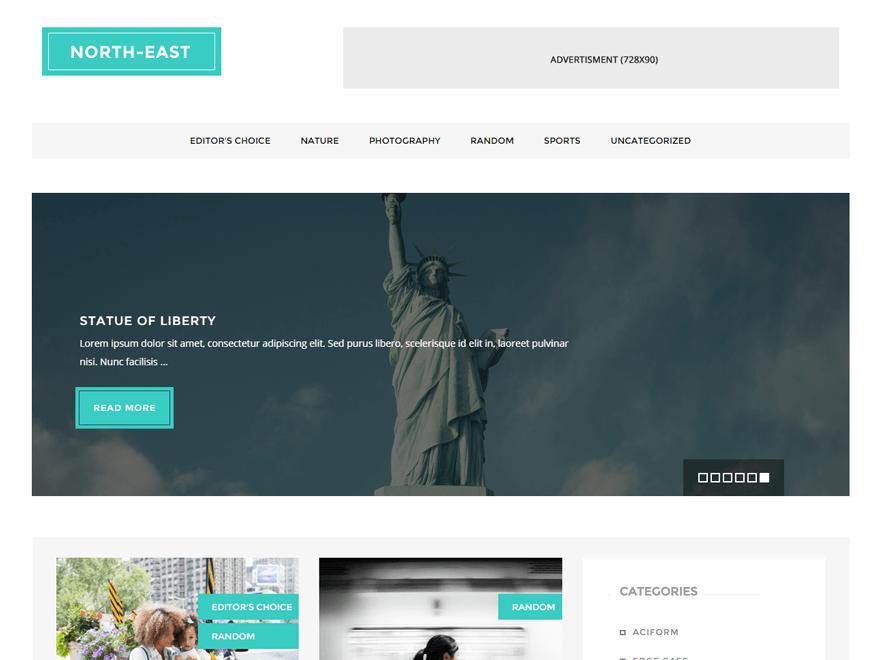 North East WordPress Theme  Download