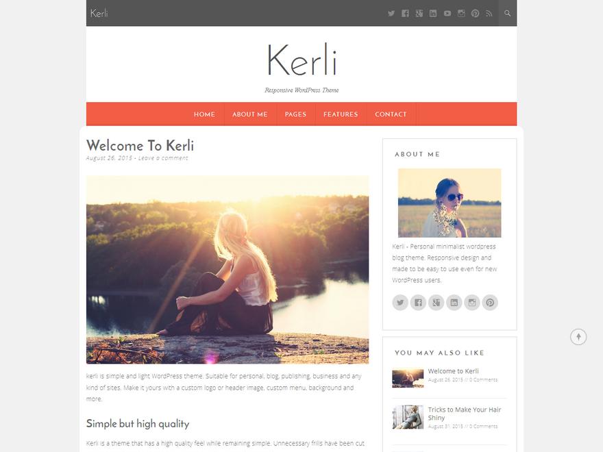 Kerli lite WordPress Theme Download