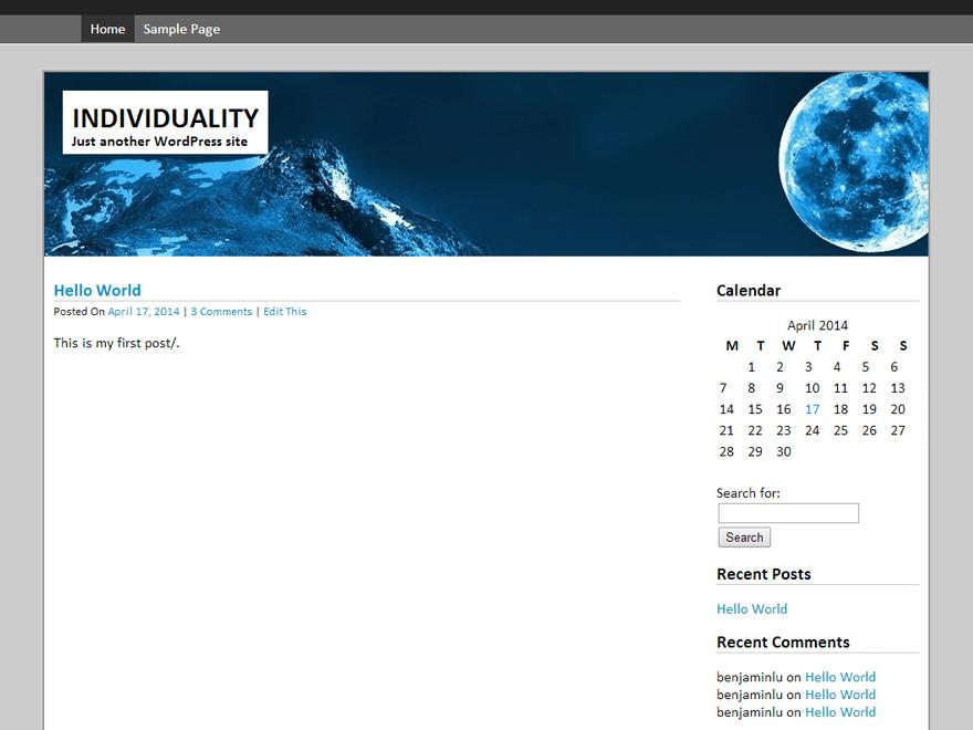Silver Quantum WordPress Theme