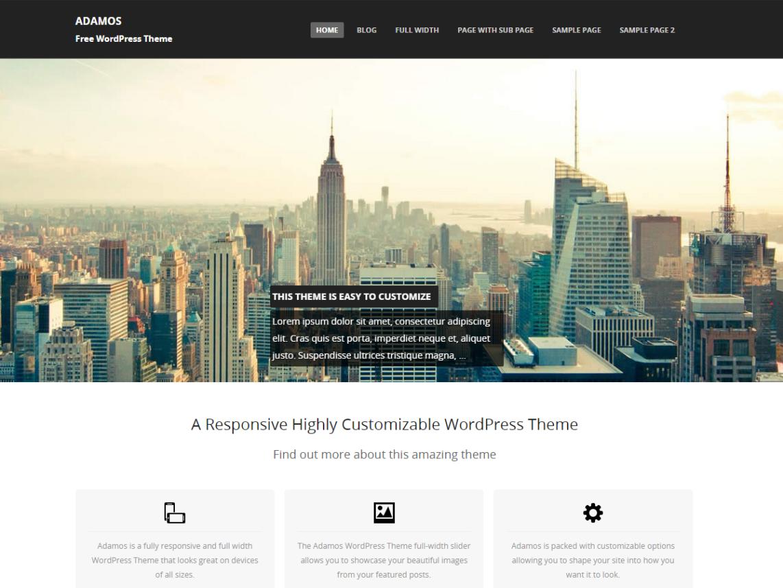 Adamos WordPress Theme Download