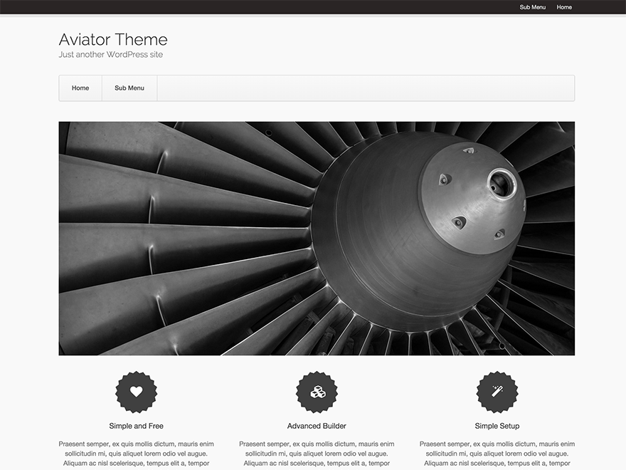 Aviator WordPress Theme