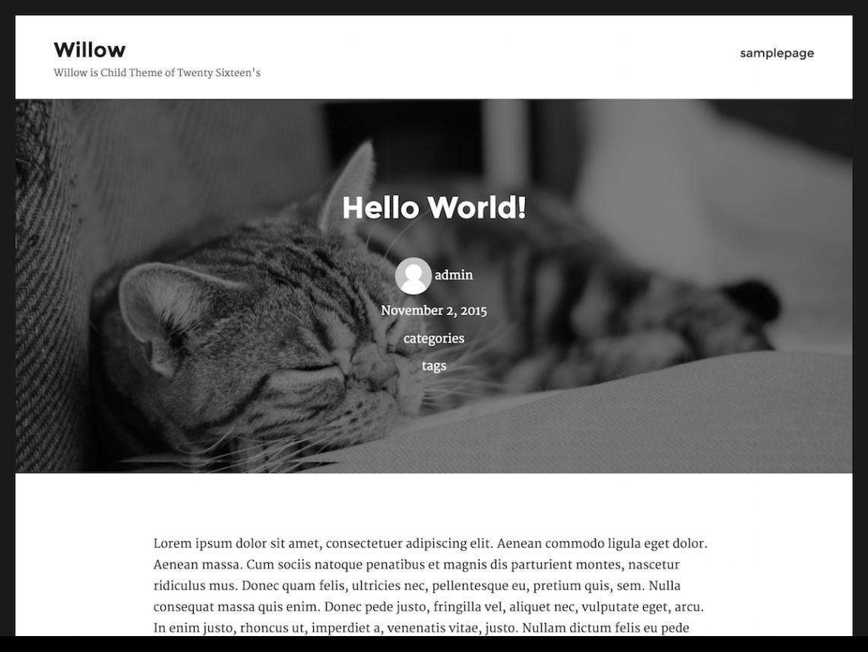 willow WordPress Theme Download