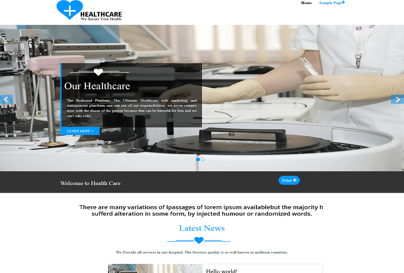 Healthcare WordPress Theme Download