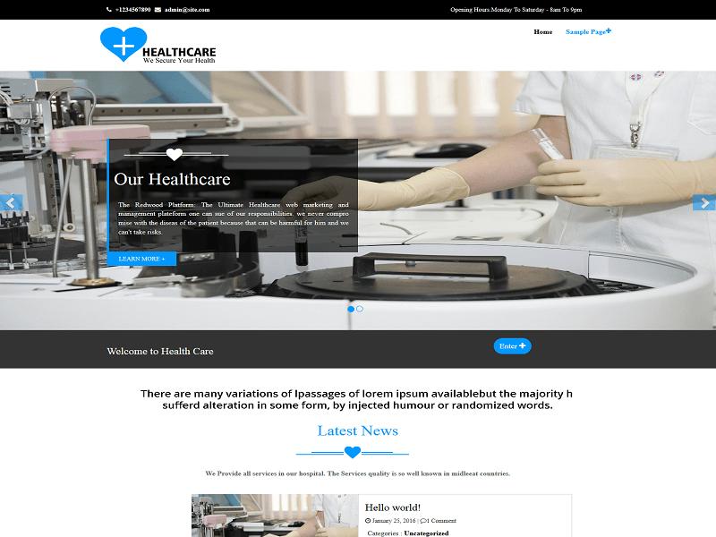 Healthcare WordPress Theme Download