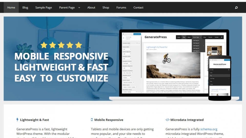 GeneratePress Wordpres Theme