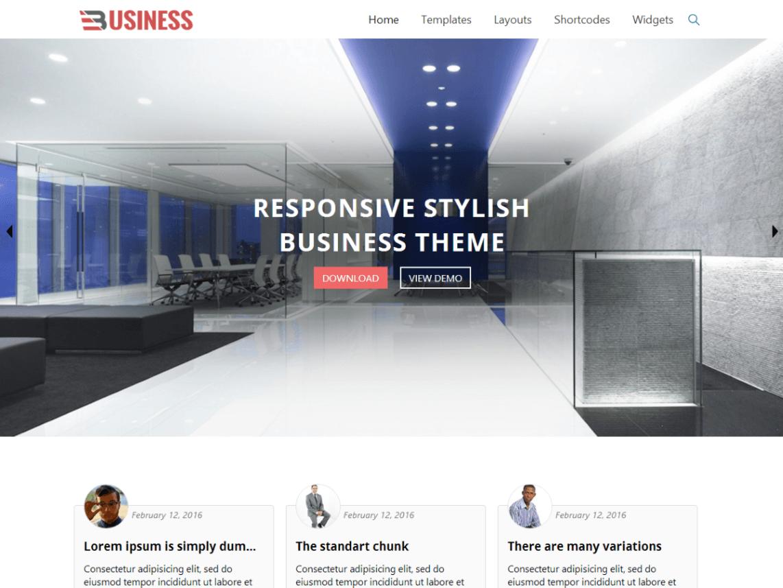 Business World WordPress Theme