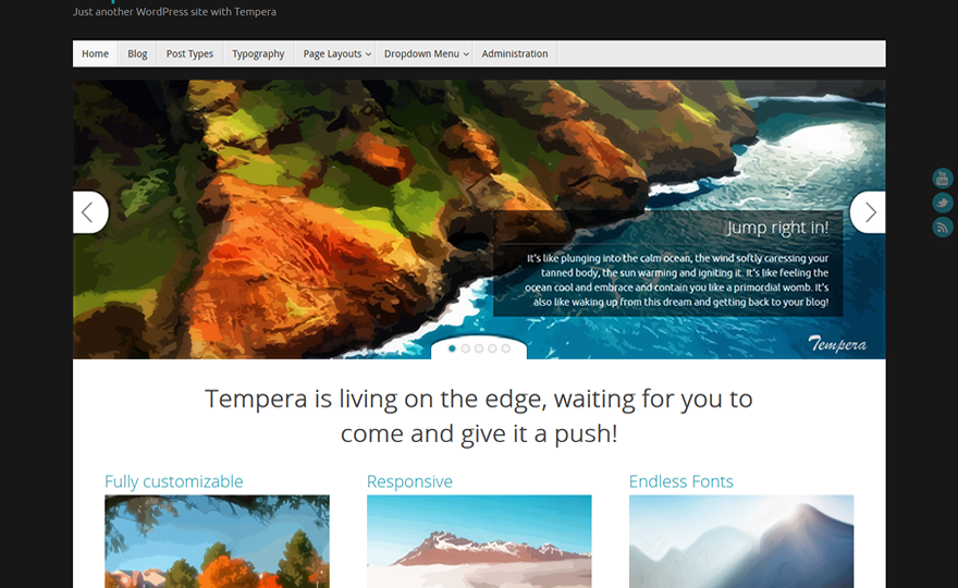 Tempera WordPress Theme