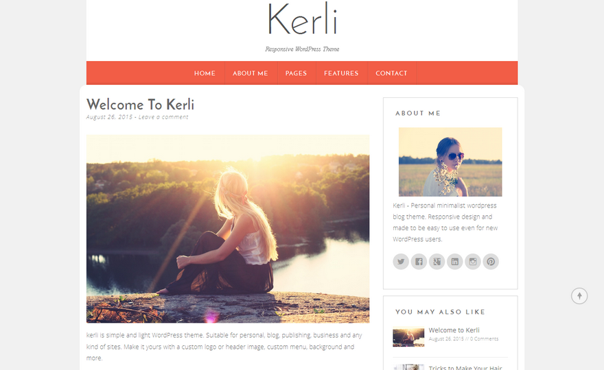 Kerli lite WordPress Theme
