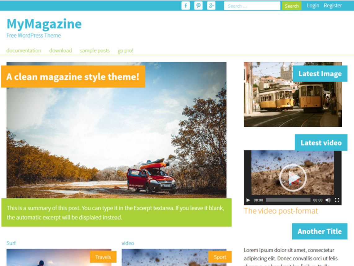 Mymagazine WordPress Theme