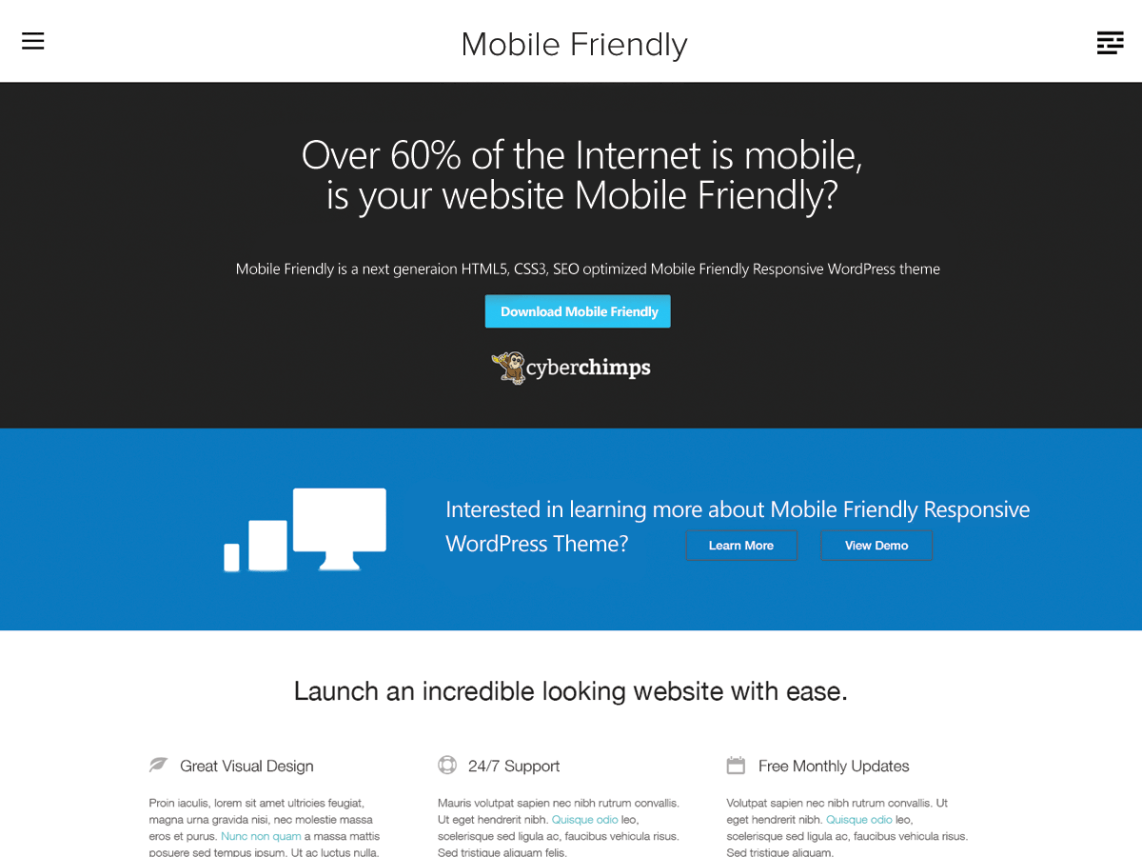 Mobile Friendly WordPress Theme