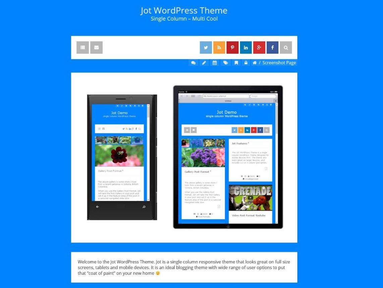 Jot WordPress Theme