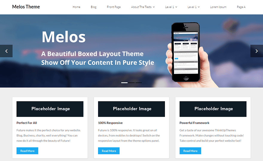 Melos WordPress Theme