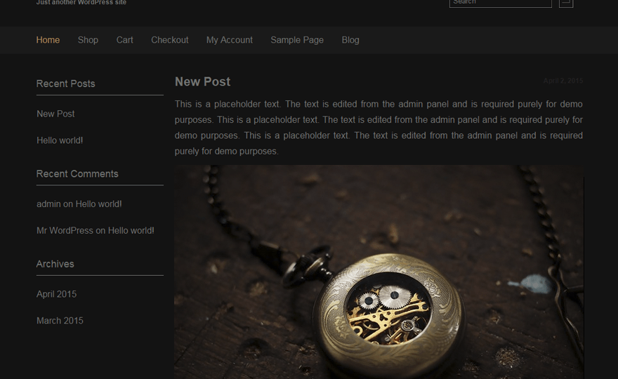 Dark Shop lite WordPress Theme