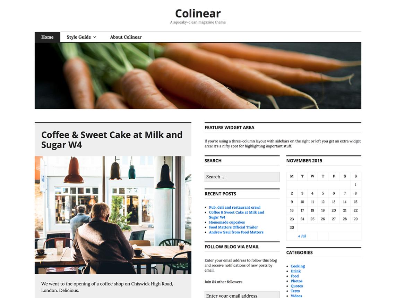 Colinear WordPress Theme