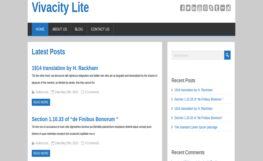 Vivacity Lite WordPress Theme