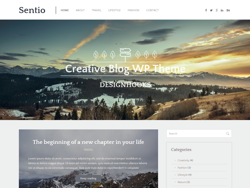 Sentio Wodpress Theme
