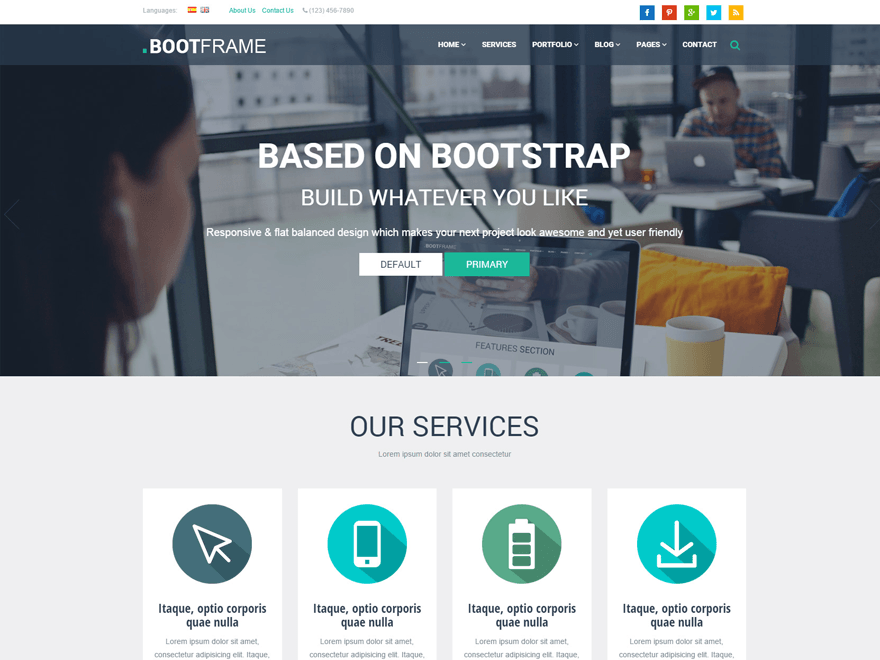 BootFrame Core WordPress Theme