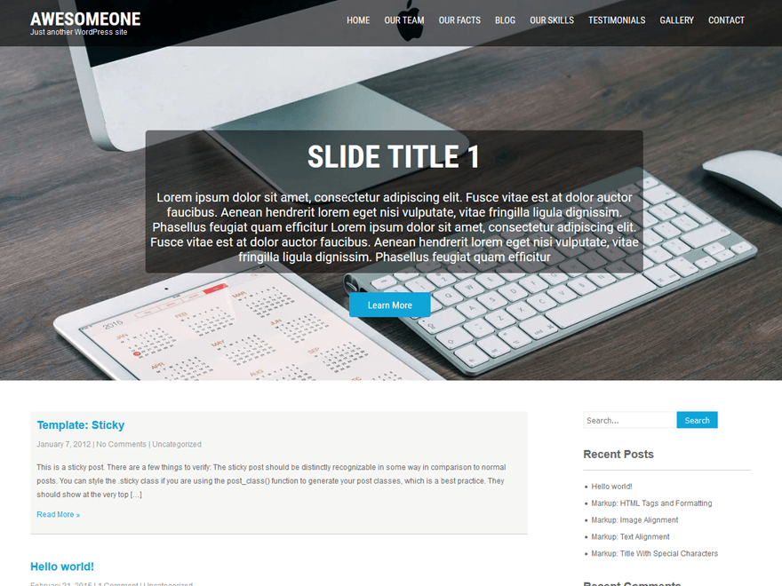 AwesomeOne WordPress Theme