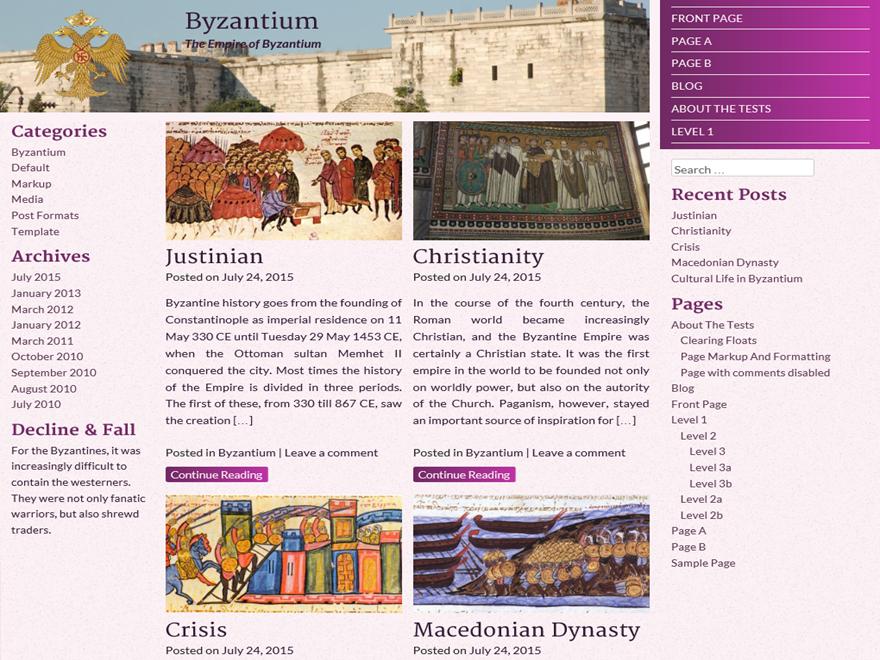 Byzantium WordPress Theme