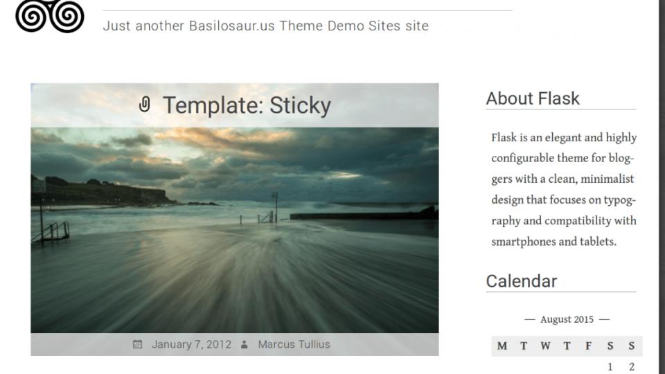 Flask WordPress Theme