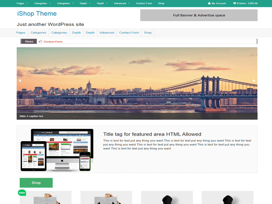 iShop WordPress Theme
