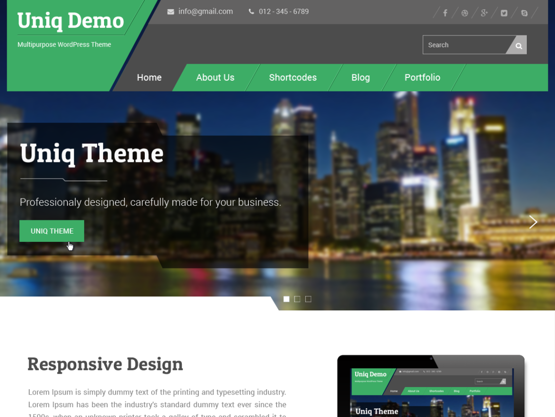 Uniq WordPress Theme