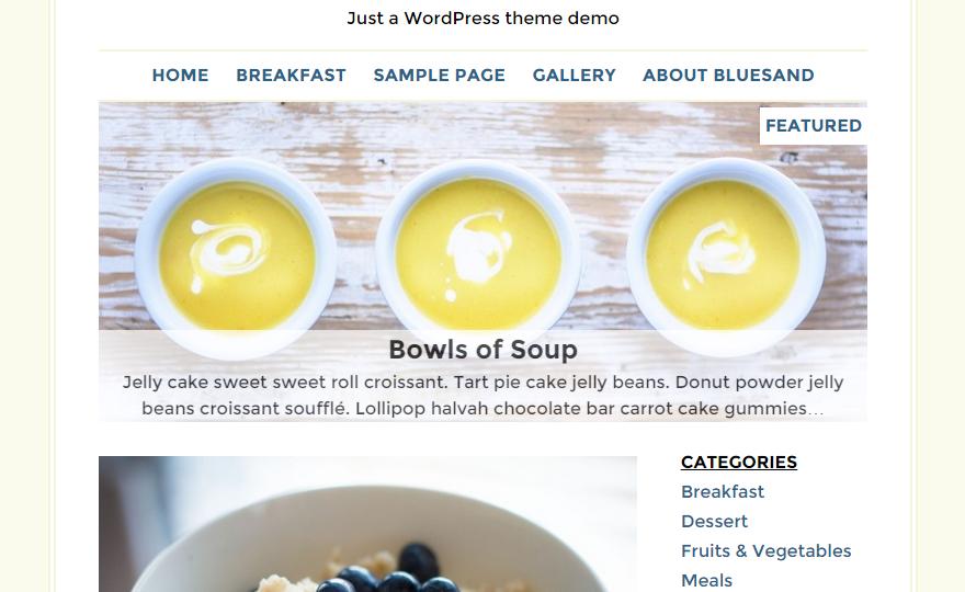 Bluesand WordPress Theme
