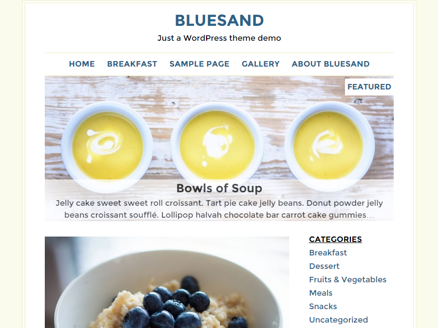 Bluesand WordPress Theme