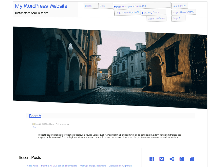 Slanty WordPress Theme