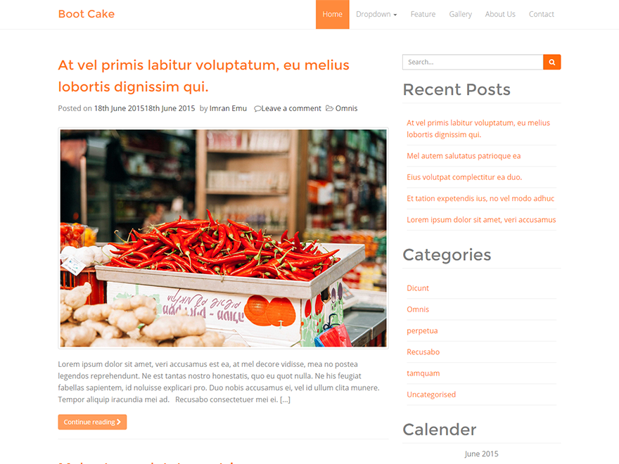 bootcake WordPress Theme