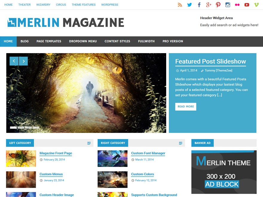Merlin WordPress Theme