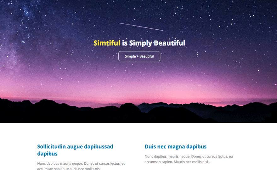 Simtiful WordPress Theme