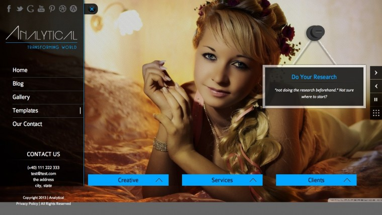Analytical Theme WordPress Download