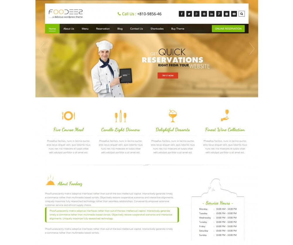 Foodeez Theme WordPress Download