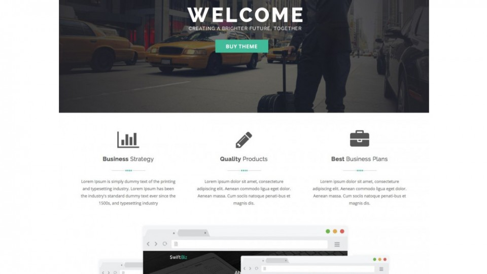 SwiftBiz Theme WordPress Download