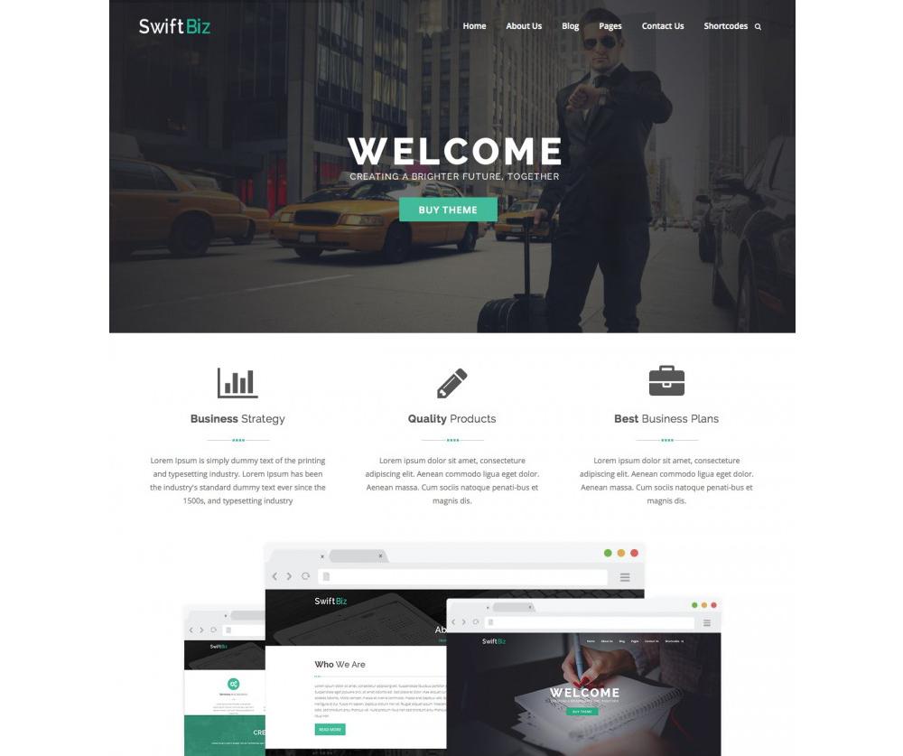 SwiftBiz Theme WordPress Download